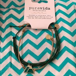 Puravida November bracelets plus a freebie sticker